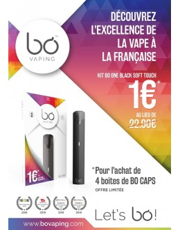 BŌ One 1 € Black Soft Touch Garantie à vie