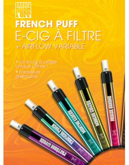 French Puff - Pastèque Glacée - E-cig à usage unique